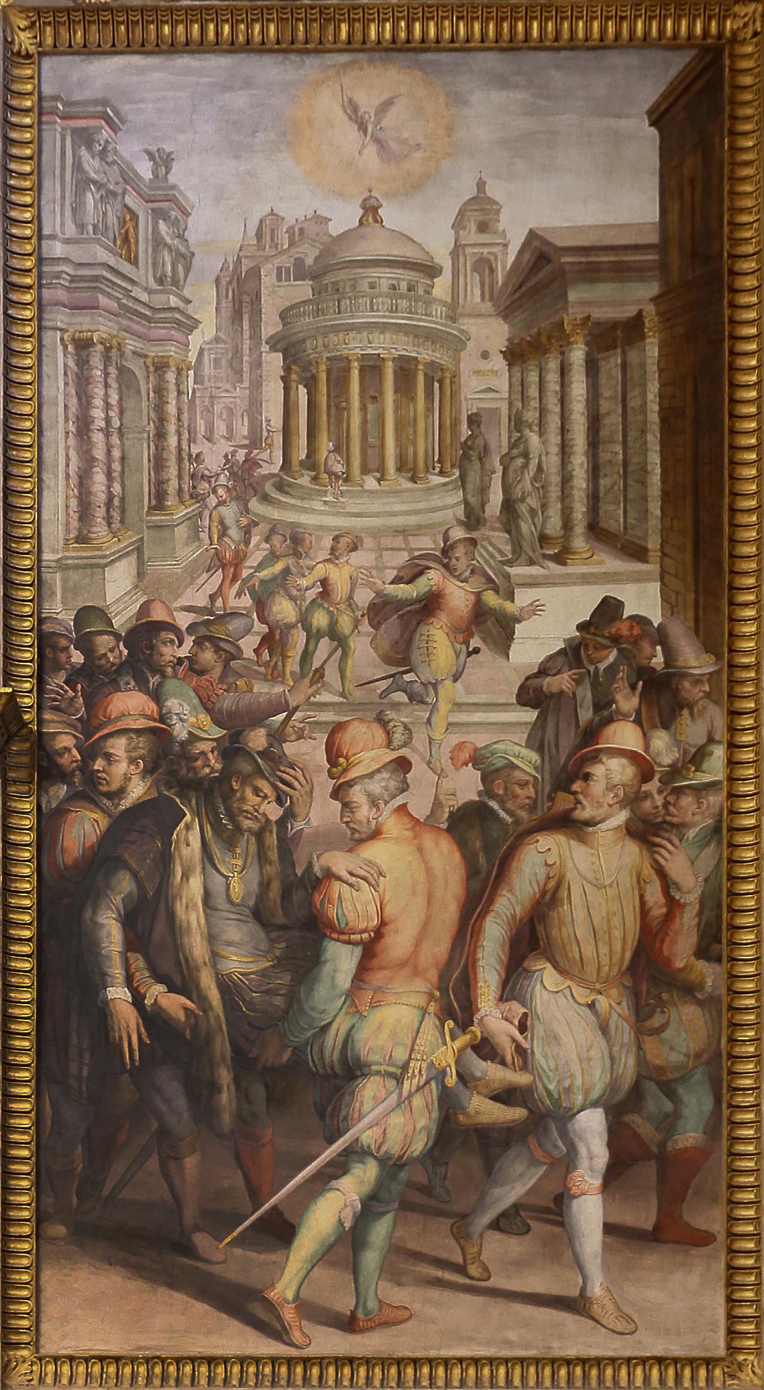Giorgio_vasari,_prima_storia_della_notte_di_san_bartolomeo,_1573,_01_ammiraglio_gaspard_ferito.jpg